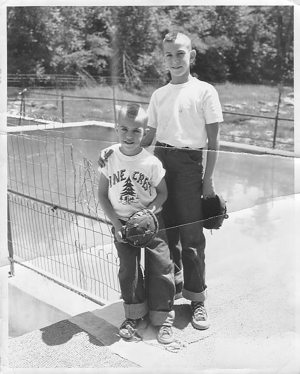 With Brother Steph 1954